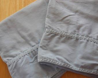 Vintage Ralph Lauren pillowcase set, King size, blue tag, slate blue