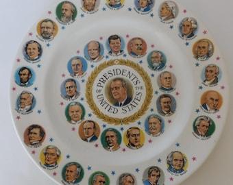 President Lyndon B Johnson Commemorative Plate