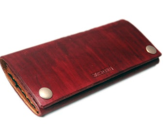 Wallet, leather wallet, coin purse, card holder, cash wallet, leather billfold, card wallet, red wallet, mens wallet, womens wallet