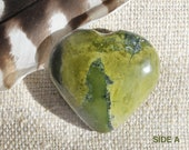 Serpentine Heart | Jade Heart Stone | Serpentine Stone Heart | Green Stone Heart | Serpentine Crystal Palm Stone | Serpentine Jade Heart