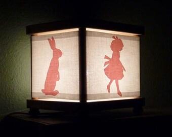 Alice in Wonderland Night Light Decor Pink