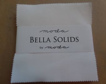 Bella Solids White 98 Charm Pack by Moda Fabrics