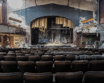 abandoned theater print