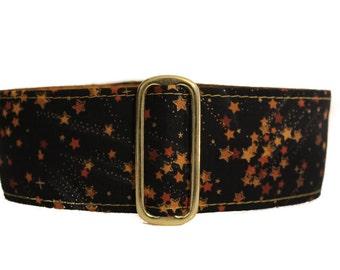 Martingale Collar, 1.5 Inch Martingale Collar, Black and Gold Martingale Collar, Christmas Martingale Collar, Christmas Dog Collar, Windhund