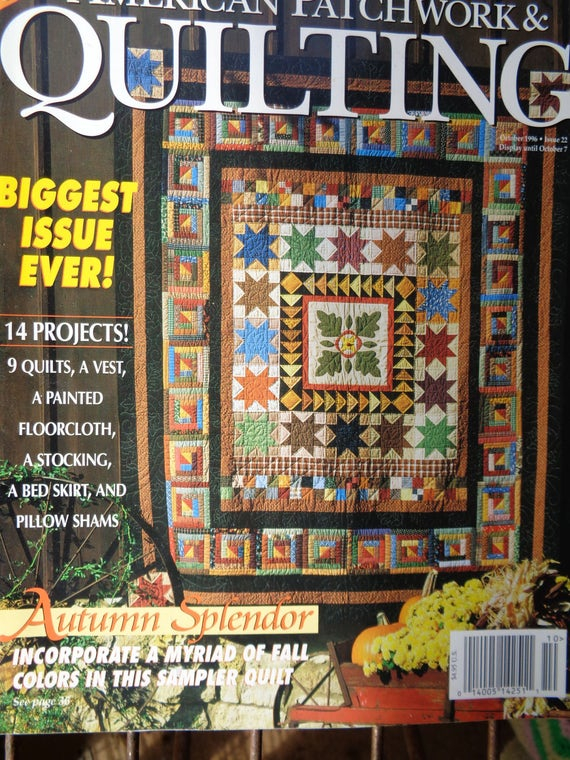 Better Homes Gardens American Patchwork And Quilting October