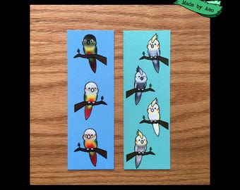 Set of 2 Parrot Bookmarks