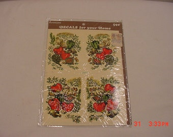 Vintage Meyercord Decal Vegetables & Herbs  16 - 568