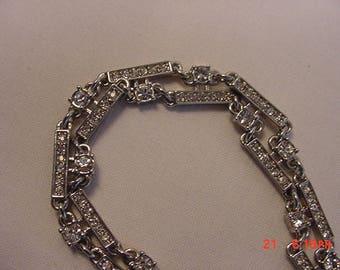 Vintage Rhinestone Necklace  17 - 611