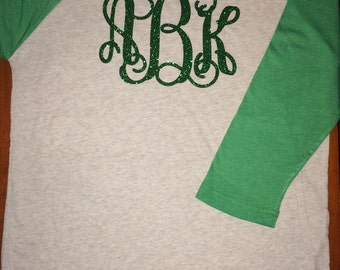 St Patrick's Day, St Paddy's Day, St Patty's Day, Don't Get Pinched, Green, Irish, Shirt, Monogram, Raglan