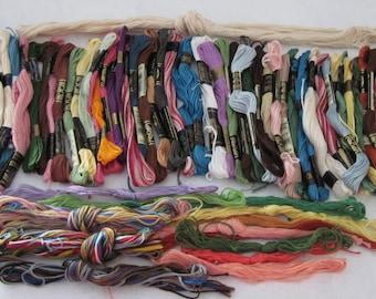 Huge Lot Vintage Embroidery Thread - 90+ Skeins