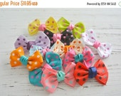 CLOSING SALE 12 Pack Polka Dot hair bows-mini hair bow-multi color polka dot-made by Maddie B's Boutique on Etsy
