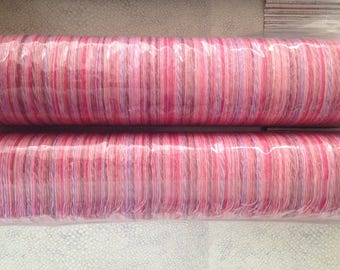 Pink Wool Saori ready made  pre-warped roll (limited edition).