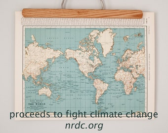 All Proceeds to Charity | 1930s Antique Maps of The World and Polar Regions | Help Fight Climate Change with a Donation to NRDC