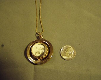 Vintage Martin Luther King Double Sided Pendant Necklace I Have A Dream Southern Christian Leadership Conf 9164