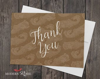 Field of Dolphins Thank You Cards - Set of 10 folded greeting cards and envelopes