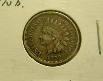 High Circulated 1859 Indian Head Cent - 1st Year Type - Nice Coin
