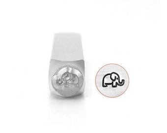 Elephant STAMP - IMPRESSART Stamps -  6mm -  Design Stamp   - Detail hand stamping - animal  stamps