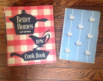 Vintage 1950's Cookbook Lot Better Homes and Gardens New Cook Book Joy of Cooking