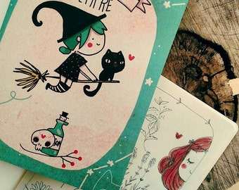 Illustrated notebook A5. Witchery things