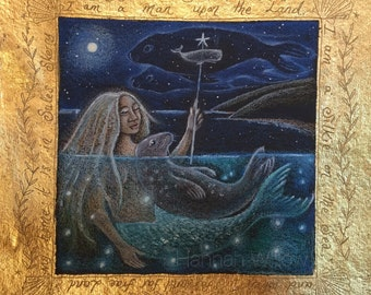 Selkie greetings card