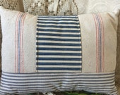 Grain Sack and Ticking 12 x 16 Pillow by Gathered Comforts