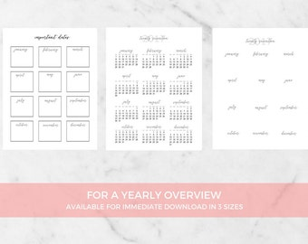 A4/USL/A5 Weekly Planner Online - Printable Daily Planner Calendar - Print A Planner - Daily Planner Template - Agenda Sheet - 12 Pages