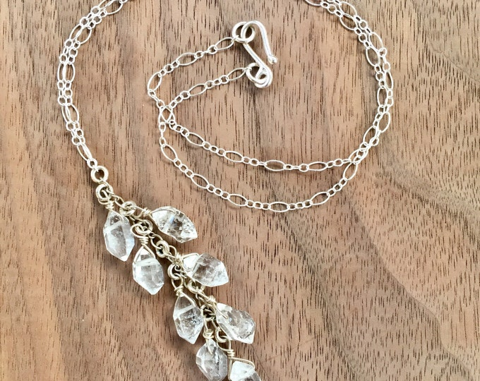 Herkimer Diamond Dangle Necklace