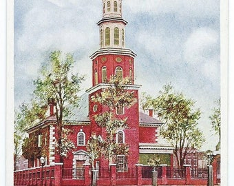 Vintage 1900's UDB Postcard of Christ Church, Alexandria, VA