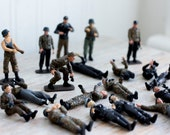 Vintage World War II Model Soldiers - Hand Painted - Miniature Soldier Figurines, Police Infantry Communication