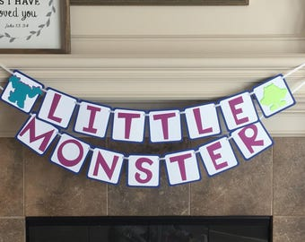 Monster Inc Baby Shower - Monster Party - Monster Inc Banner - Monster Inc Birthday Banner - Birthday Banner - Sully Banner - Mikey Banner
