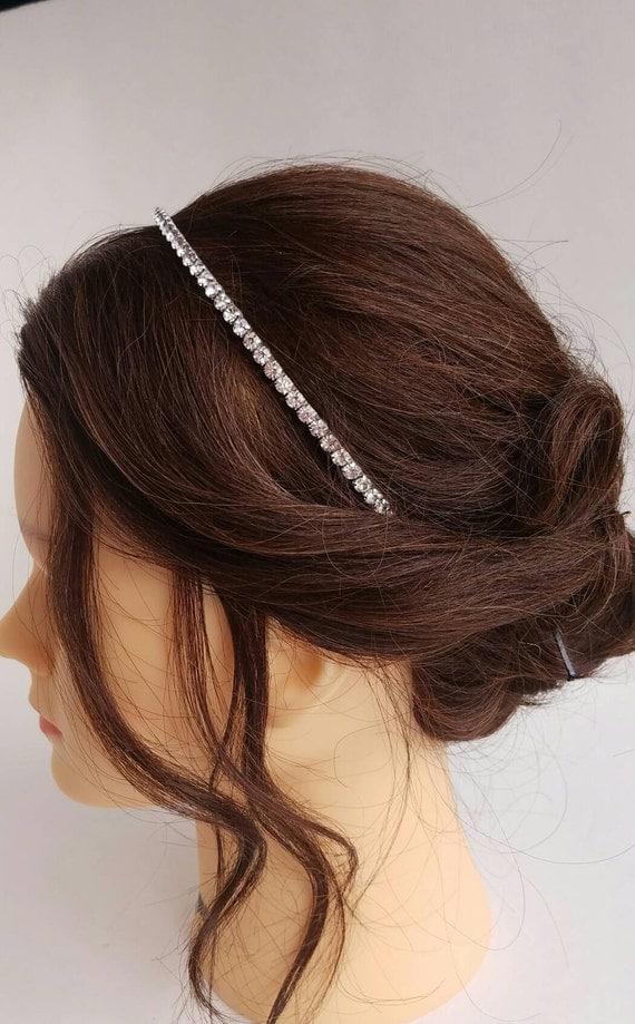 Rhinestone Headband, Crystal Headband, Bridal Tiara, Rhinestone Headpiece, Diamond Headband. Bridal Veil, Wedding Tiara, Crystal Headpiece