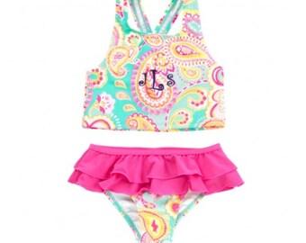 Girls Paisley swimsuit