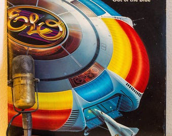"""ON SALE E.L.O. (ELectric Light Orchestra) Vinyl Record Albums LPs 1970s British Classic Rock and Roll Pop Genius Jeff Lynne """"Out Of The Blue"""
