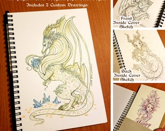Dragon Journal Gift Set OOAK
