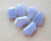 Blue Lace Agate, Gemstone Pendants, Agate Pendants, Jewelry Making Beads, (1)