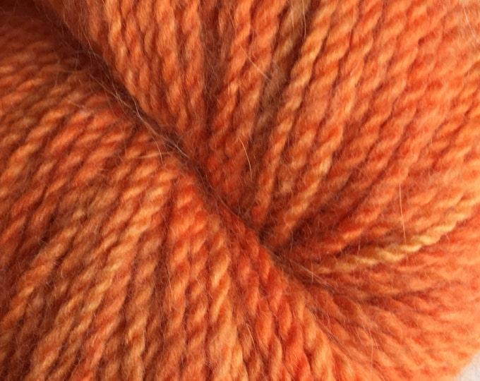 Orange Heather Angora Merino Yarn