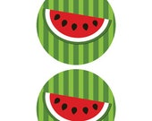 Watermelon Centerpiece Circles and Slice, Printable, Instant Download