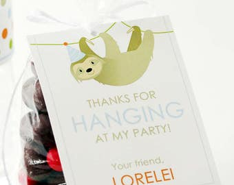 Sloth Party Gift #Tags