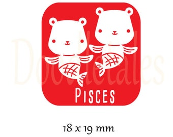 Horoscope Pisces (Rubber Stamp)