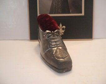 Antique Shoe Pincushion Washington DC Souvenir Original Cushion Jennings Bros.