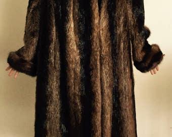 Stunning Vintage 40's Long Mink Coat(reduced )