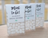 Wedding Favors, Tic Tac Labels Mint To Be, Bridal Shower Favors, Bachelorette Party, Engagement Party Favors - Set of 24 Labels