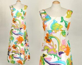 vintage 1960s Tori Richard dress • bright hawaiian maxi dress