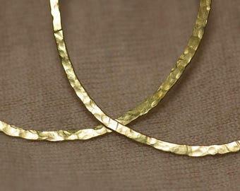 Brass Hammered Hoops