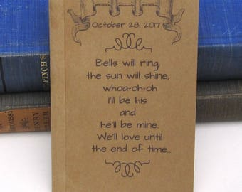 Personalized Going to the Chapel Notebook / Journal / Sketchpad