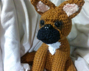 Crochet French Bulldog puppy dog ANY colors you want ANY dog breed you want