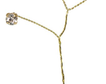 Rhinestone Crystal Accent for Corsages or Boutonnieres - Regal Rhinestones - Gold