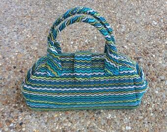 Wavy Blue Stripe Doctor Bag