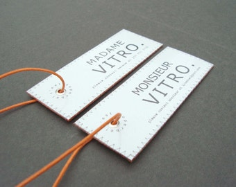 Madame et Monsieur luggage tags for the sophisticated newlywed couple. Ultimate wedding gift to travel in style.
