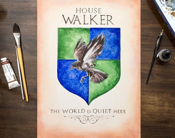 Game of Thrones Inspired Coat of Arms / Hand Drawn Custom House Shield